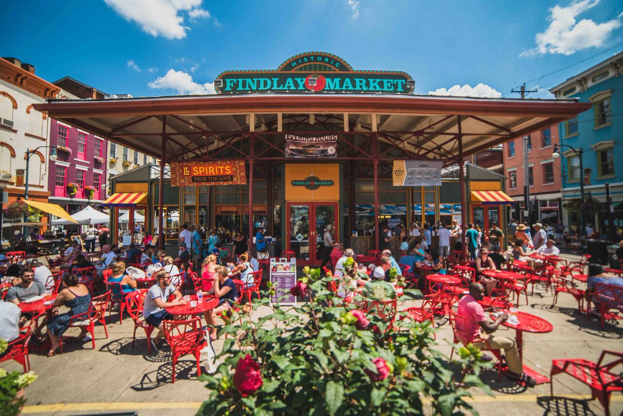 front entrance of Findley Market