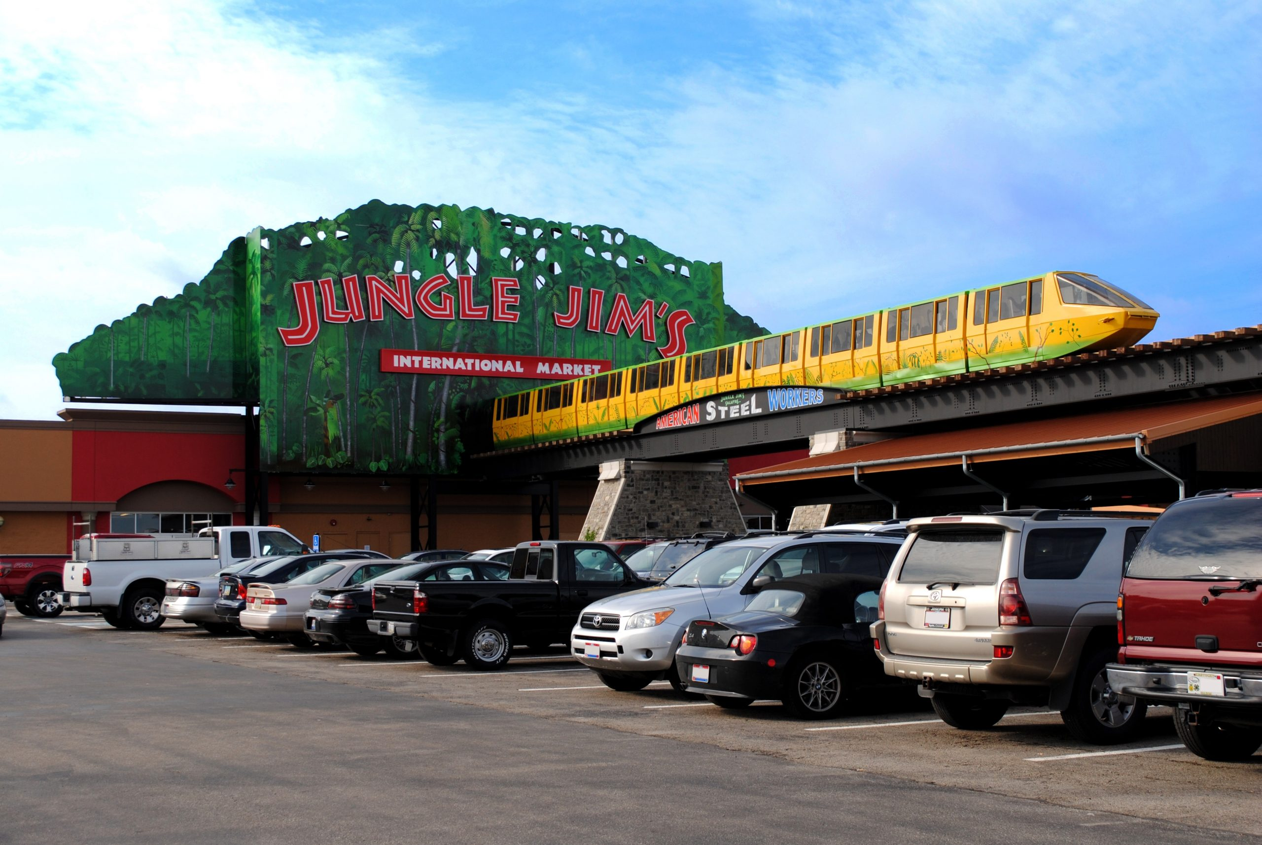 front entrance of Jungle Jim's International Market
