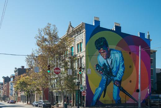 James Brown mural