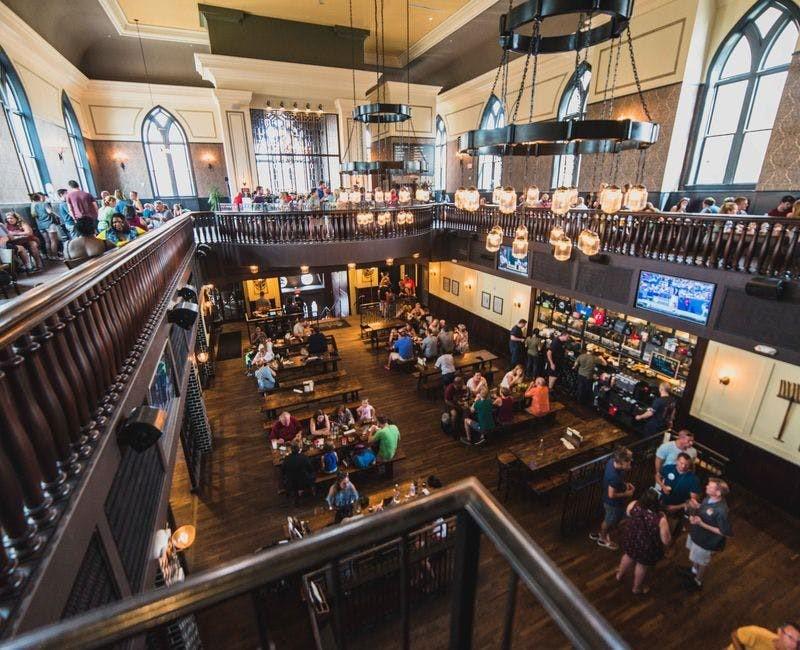 Taft's Ale House interior overhead view