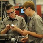 students studying precision engineering at Great Oaks