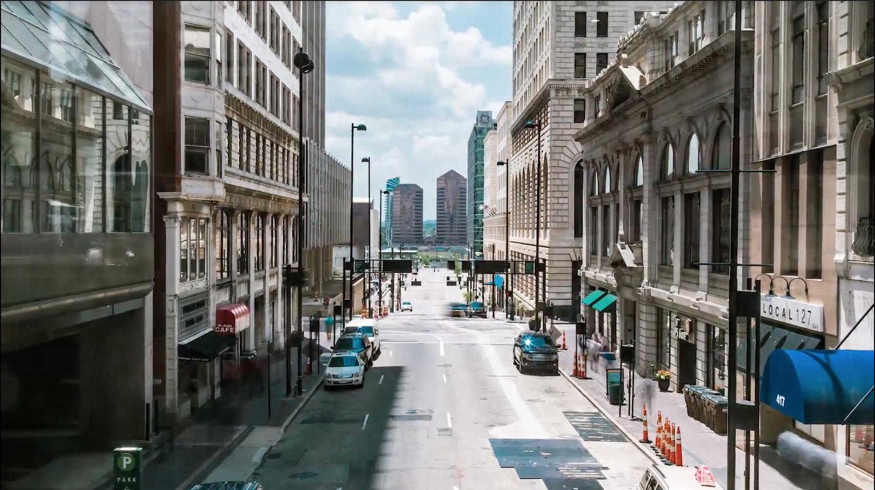 street in downtown Cincinnati